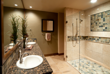 Gorgeous, modern bathroom